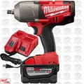 "Milwaukee 2763-20 M18 FUEL 1/2"" High Torque Impact w/ Hog Ring 9.0ah Kit"