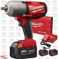 "Milwaukee 2763-22 M18 FUEL 1/2"" High Torque Impact w/ Detent Pin + 3 5.0Ah"