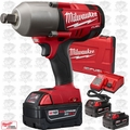 "Milwaukee 2764-22 M18 FUEL 3/4"" Impact Wrench with Hog Ring Kit 3 5Ah Batts"