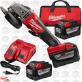 "Milwaukee 2780-22HD-X1 M18 Fuel 4-1/2""/5"" Grinder Paddle No-Lock 3x 9.0 Batts"
