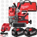 "Milwaukee 2788-22HD M18 Fuel 1-1/2"" Lineman Magnetic Drill Press 3x 9 Batts"