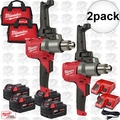 Milwaukee 2810-22 M18 FUEL Mud Mixer with 180 Deg. Handle Kit 2x