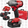 "Milwaukee 2861-22 M18 FUEL 1/2"" Impact Wrench w/ Friction Ring 3 Batt Kit"