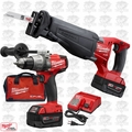 Milwaukee 2894-22 M18 5.0ah FUEL 2-Tool Hammer Drill Sawzall Combo Kit