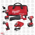 Milwaukee 2896-24 M18 18V Gen 2 FUEL Li-Ion 4-Tool Combo Kit OB