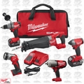 Milwaukee 2896-24 M18 Gen 2 FUEL Li-Ion 5-Tool Combo Kit w/2 5.0Ah Batteries