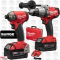 Milwaukee 2899-22 M18 FUEL Hammer + Drill Driver + 2 Batt Combo Kit
