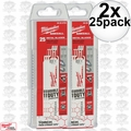 "Milwaukee 48-00-8784 2x 25pk 18TPI 6"" Torch Double Duty Sawzall Blades"