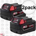 Milwaukee 48-11-1852 2pk M18 REDLITHIUM XC5.0 Battery 2x 48-11-1850 O-B