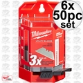 Milwaukee 48-22-1950 50 PC General Purpose Utility Blades w/ Dispenser 6x