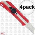Milwaukee 48-22-1962 25mm Snap-Off Utility Knife with Metal Lock 4x