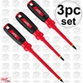 Milwaukee 48-22-2202 3pc Insulated 1000v Screwdriver Set
