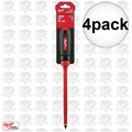 "Milwaukee 48-22-2223 4pk 3/8"" Slotted - 8"" 1000V Insulated Screwdriver"