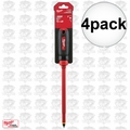 "Milwaukee 48-22-2224 4pk 3/8"" Slotted - 10"" 1000V Insulated Screwdriver"