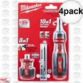 Milwaukee 48-22-2302C 4pk 10in1 Ratcheting Bits + 8in1 Stubby Multi Bits Drivers