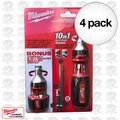 Milwaukee 48-22-2302 10in1 Ratcheting Bits+8in1 Stubby Multi Bits Drvrs 4x