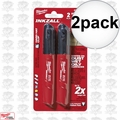 Milwaukee 48-22-3102 2pk Inkzall Black Medium Point Marker