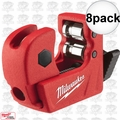 "Milwaukee 48-22-4250 8pk 1/2"" Mini Copper Tubing Cutter"
