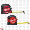 Milwaukee 48-22-5125G 25' Magnetic Tape Measure w/ FREE 25' Tape Measure