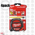 Milwaukee 48-22-5225 4pk 26' (8m) Standard/Metric Magnetic Tape Measure