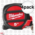 Milwaukee 48-22-5305 4pk 5 Meters Metric Magnetic Tape Measure