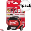 Milwaukee 48-22-7125 4pk 25' Magnetic Tape Measure