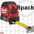 Milwaukee 48-22-7125 8pk 25' Magnetic Tape Measure