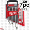 Milwaukee 48-22-9507 4x 7pc Combination Wrench Set - Metric