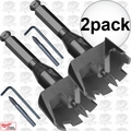 "Milwaukee 48-25-3001 2pk 3"" with 1/2"" Shank Selfeed Bit"