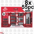 Milwaukee 48-32-4014 8x 55pc Shockwave Impact Duty Driver Bit Set