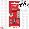 Milwaukee 48-32-4444 3x 2pk Reduced Diameter Drywall Insert Bits