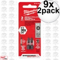Milwaukee 48-32-4444 9x 2pk Reduced Diameter Drywall Insert Bits