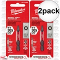 "Milwaukee 48-32-4484 2pk Torx Shockwave Impact Duty 2"" Power Bit"