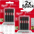 "Milwaukee 48-32-4491 2x 5pk #1 EXC 2"" Shockwave Power Bits"
