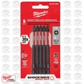 "Milwaukee 48-32-4564 5pk #2 Phillips 3-1/2"" Shockwave Power Bits"