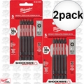 "Milwaukee 48-32-4564 2x 5pk #2 Phillips 3-1/2"" Shockwave Power Bits"