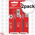 "Milwaukee 48-32-4572 2x #2 Square Recess Shockwave 3-1/2"" Power Bit"