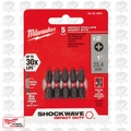 "Milwaukee 48-32-4601 5pk #2 Phillips Shockwave 1"" Insert Bits"