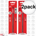 "Milwaukee 48-32-4802 2pk #2 Phillips Shockwave 6"" Power Bit"