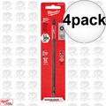 "Milwaukee 48-32-4802 4pk #2 Phillips Shockwave 6"" Power Bit"