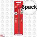 "Milwaukee 48-32-4802 8pk #2 Phillips Shockwave 6"" Power Bit"