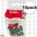 "Milwaukee 48-32-5008 10pk #2 Sq Recess 1"" Shockwave Impact Duty Insert Bits"
