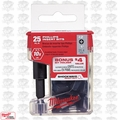 Milwaukee 48-32-5009 SHOCKWAVE 25pk #2 Drywall Bits + Magnetic Bit Holder