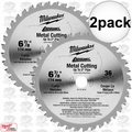 "Milwaukee 48-40-4016 2pk 6-7/8"" 36 Teeth Ferrous Metal Circular Saw Blade"
