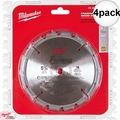 "Milwaukee 48-40-4105 4pk 5-3/8"" 16 Carbide Teeth Circular Saw Blade"