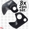 Milwaukee 48-44-0410 8x 2pc 600 MCM Replacement Cable Cutter Blade Set