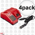 Milwaukee 48-59-1810 4x M18 / M12 Vehicle Cordless Battery Charger