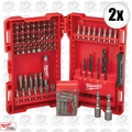 Milwaukee 48-89-1561 2x 95pc Drill and Driver Set