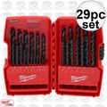 "Milwaukee 48-89-2802 29pc Thunderbolt Black Oxide Drill Bit Set 1/16""-1/2"""