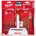 Milwaukee 48-89-4631 23pc Titanium Shockwave Drill Bit Set Kit + Case